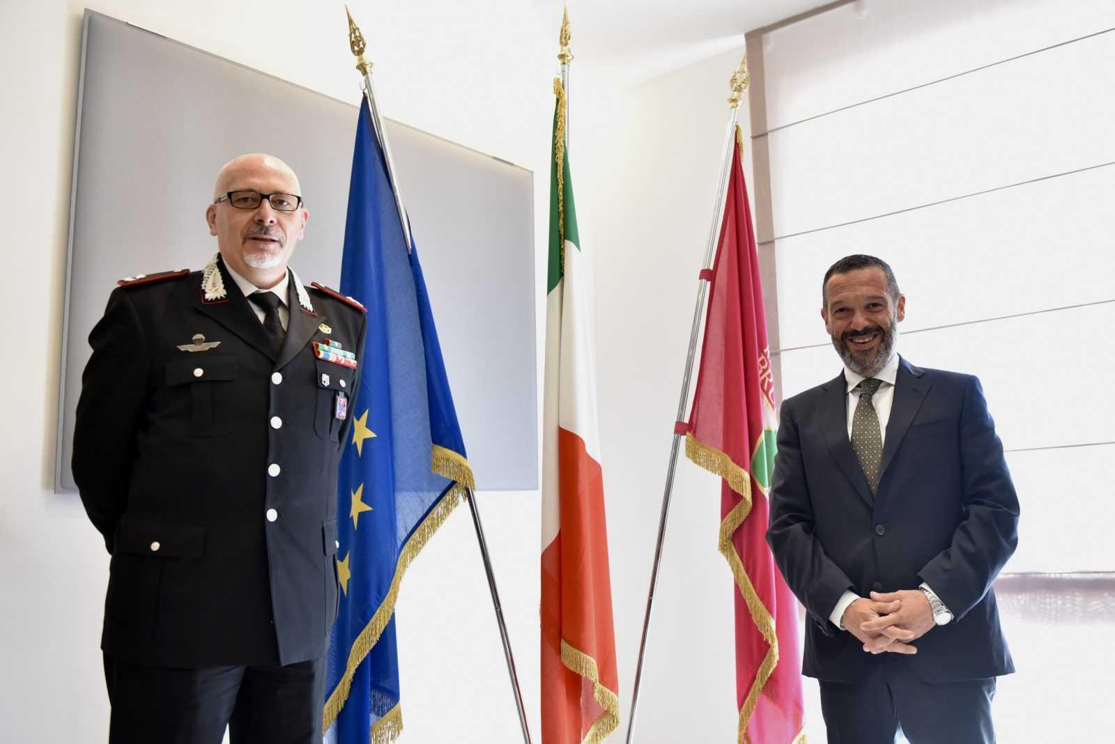 abruzzo,-il-presidente-sospiri-incontra-il-generale-aceto-nuovo-comandante-dei-carabinieri