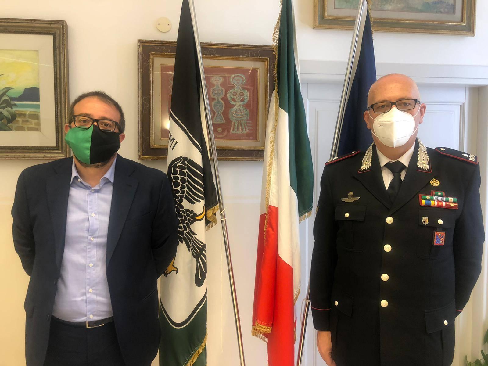 carabinieri,-biondi-incontra-comandante-legione-abruzzo-e-molise-paolo-aceto