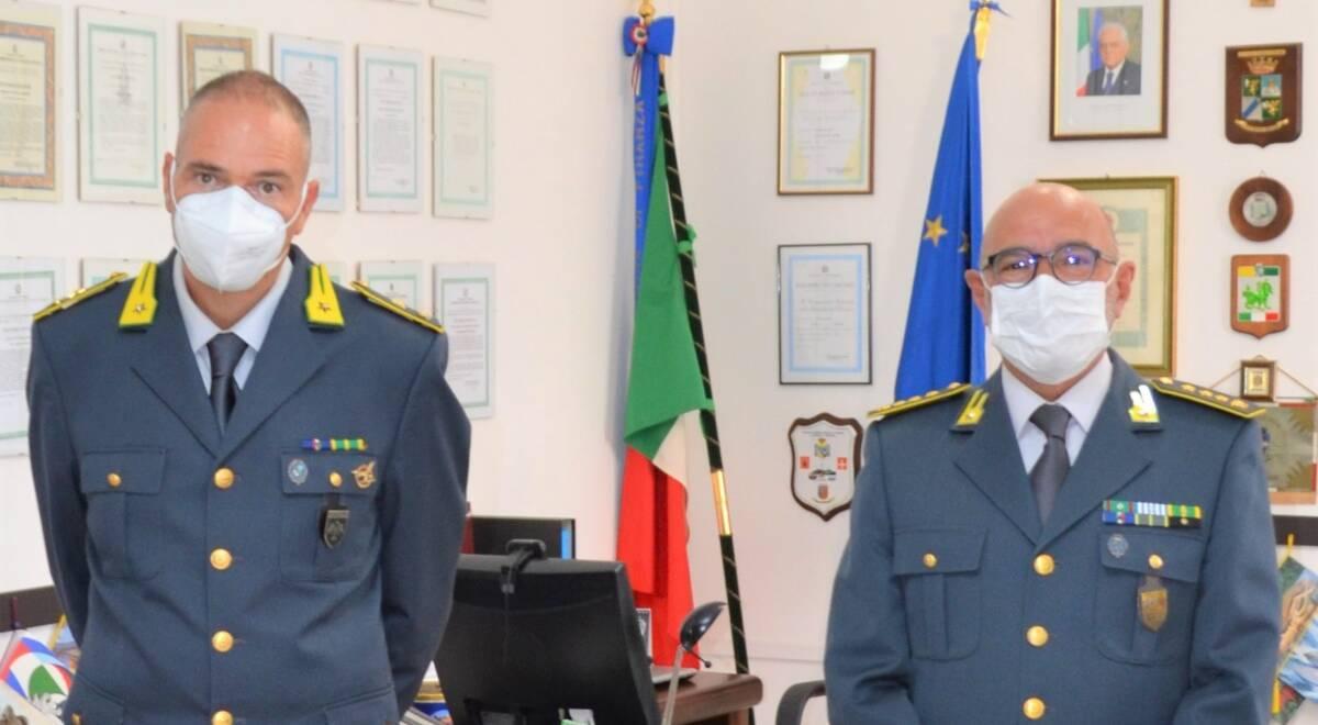 guardia-di-finanza,-il-colonnello-franco-tuosto-e-il-nuovo-comandante-del-gruppo-pescara